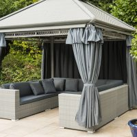 Rattan Weave Gazebo Furniture Set