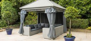 Rattan Weave Gazebo Furniture Set