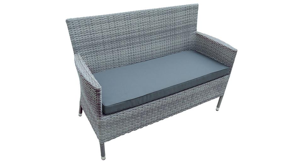 Rattan Weave 2 Seat Bench