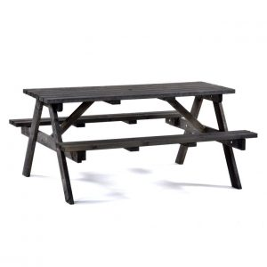 Dark Grey Picnic Table
