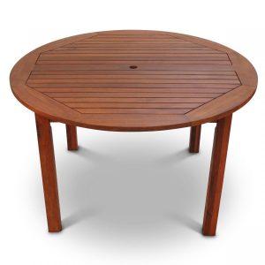 hardwood round dining table