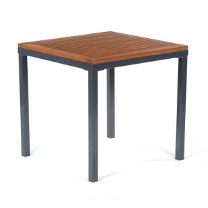 hardwood square table