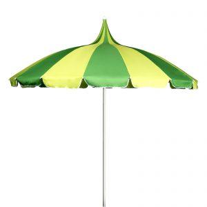 Green and yellow pagoda parasol