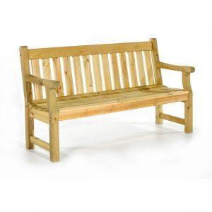 4 Seat Pine Bench