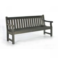 dark grey pine bench