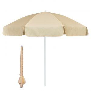 Garden & Beach Sun Umbrella 2m -Natural/Ivory